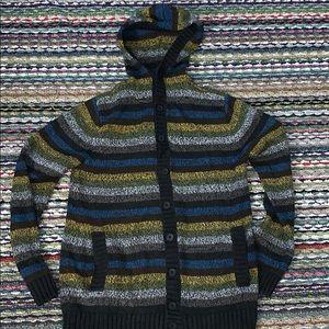 🔥😎 Striped Tweed  Knitted Hoodie